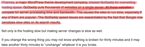 GoDaddy Slow Loading Time