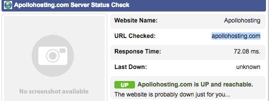 ApolloHosting Response Times