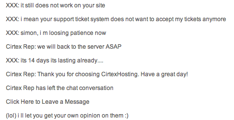 Cirtex Customer Support