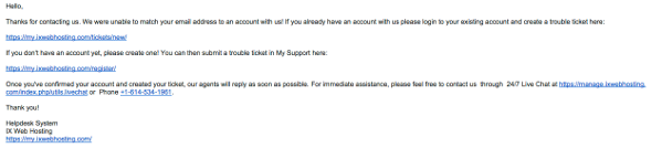 ixwebhosting email