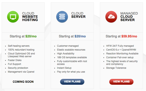 HostForWeb Cloud Plans