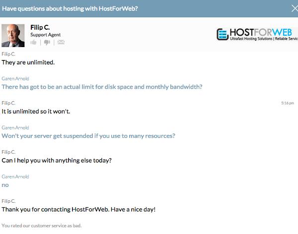 HostForWeb Live Chat
