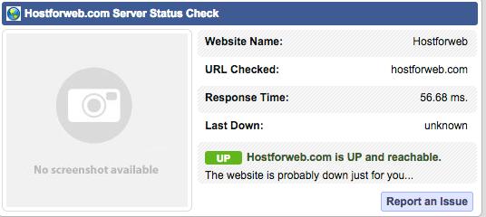 HostforWeb Response Time