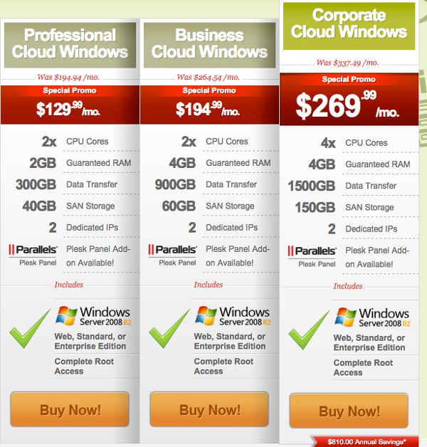 IXWebhosting - Cloud - Windows