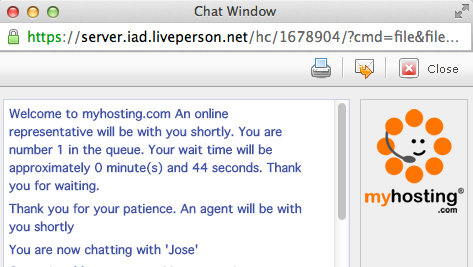 MyHosting Live Chat