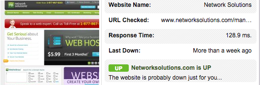 Network Solutions Response Time