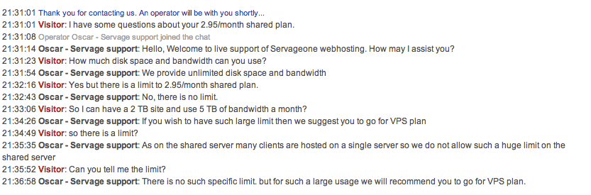 Servage Live Chat 1