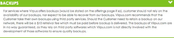 Virpus Backups