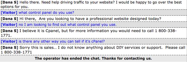 Web.com Live Chat