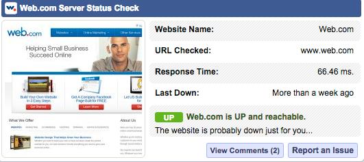 Web.com Response Times