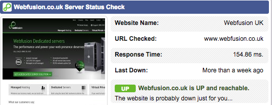 Webfusion Response Times