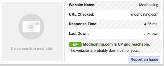 MDDHosting Response Times