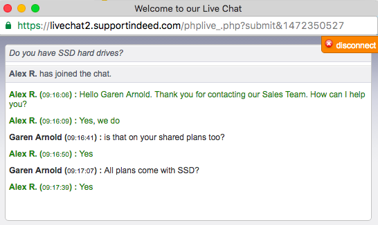 AwardSpace SSD Chat